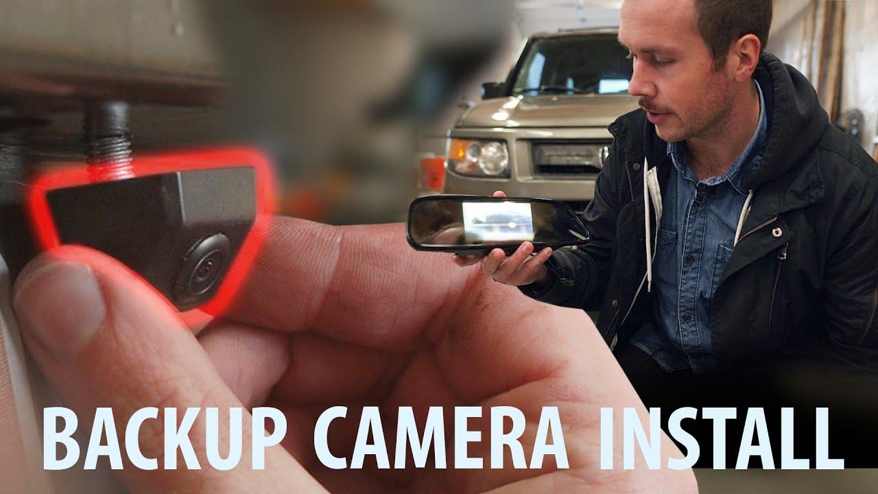 DIY $40 BACKUP CAMERA INSTALL for Honda Element Honda Backup Camera Wiring Diagram on
