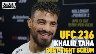 UFC 236: Khalid Taha Believes T.J. Dillashaw's Wins Over Cody Garbrandt Should Be Overturned