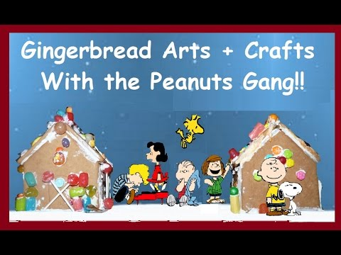 Making a Gingerbread House with Charlie Brown and the Peanuts Characters