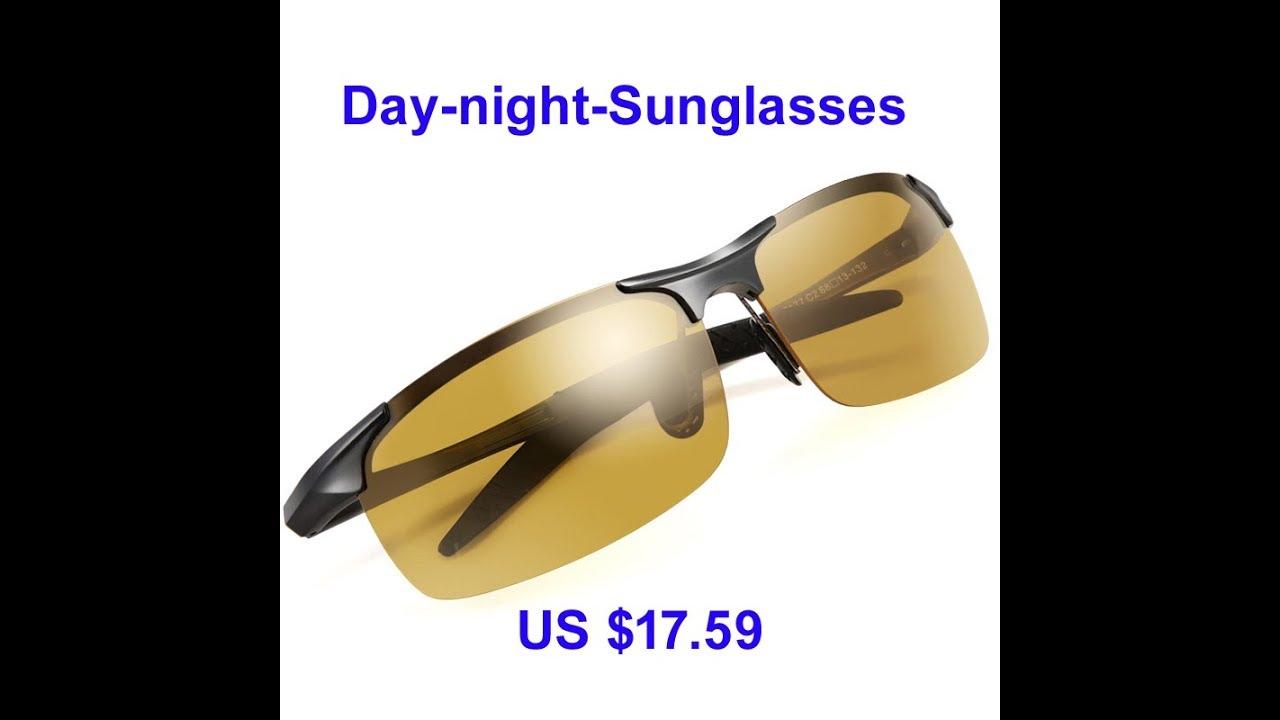 af42562ec9c Day Night Photochromic Polarized Sunglasses for Men - YouTube