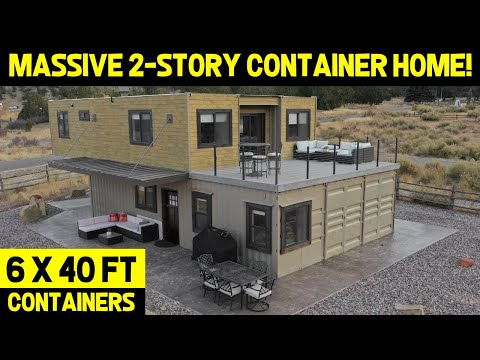 ULTRA-MODERN 2-STORY SHIPPING CONTAINER HOME! (From 6x40ft Containers)