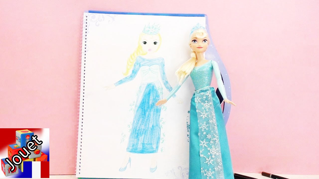 Dessin de la reine des neiges elsa livre de coloriage top model la reine des neiges elsa youtube - Coloriage top model a imprimer ...