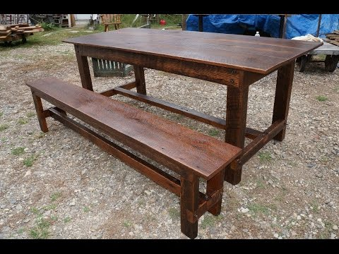 Superieur Barn Wood Oak Harvest Table