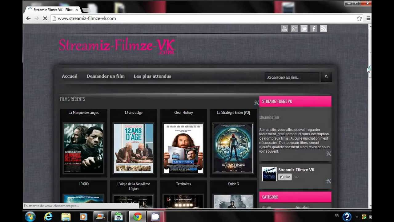 regarder des films en streaming gratuitement sur vk player vimple illimit s youtube. Black Bedroom Furniture Sets. Home Design Ideas