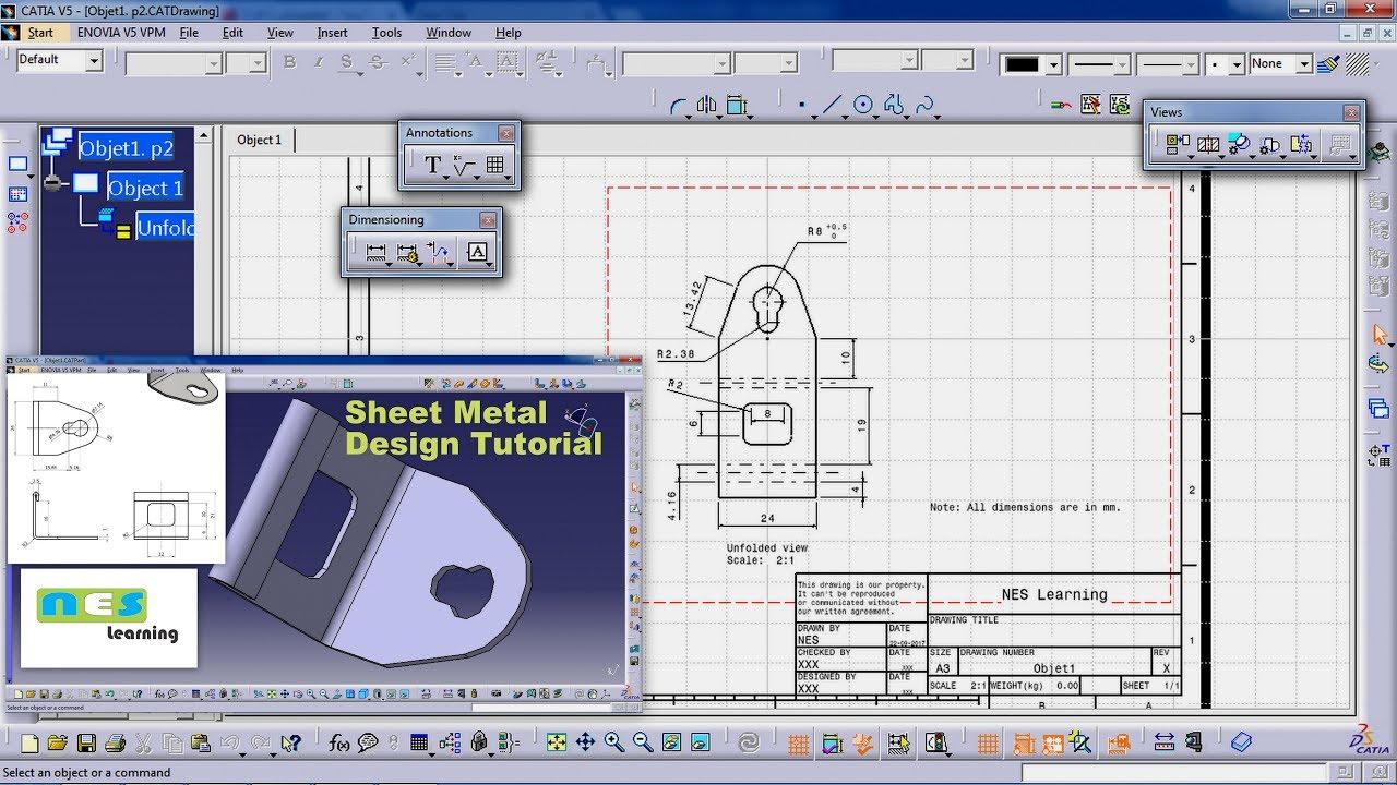 catia v5 v6 tutorial sheet metal design tutorial part 02 youtube. Black Bedroom Furniture Sets. Home Design Ideas