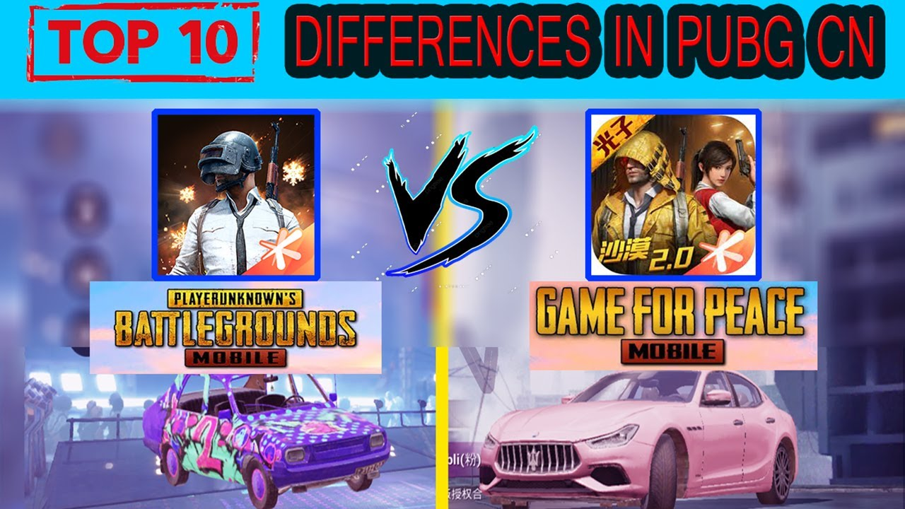 PUBG Chinese VS PUBG global | top 10 differences in pubg cn |Pubg Chinese  version gameplay in hindi