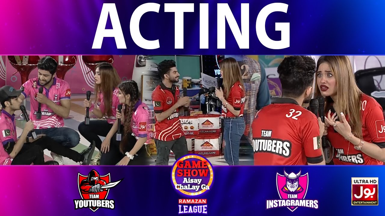 Download Acting   Game Show Aisay Chalay Ga Ramazan League   Instagramers Vs Youtubers