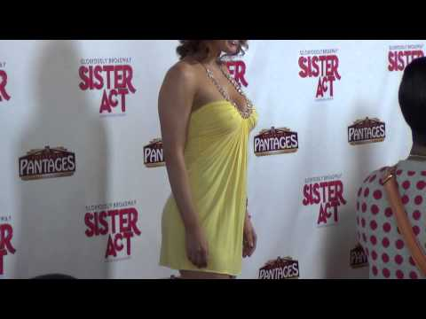 Maitland Ward outside The Pantages Theatre in Hollywood