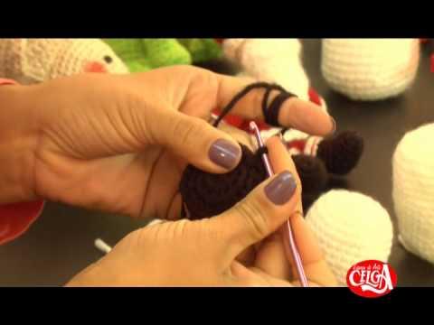 Amigurumi Peppa Pig : Passo a Passo - boneco de neve em Amigurumi - YouTube