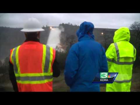 Crews test, monitor damaged spillway at Oroville Dam