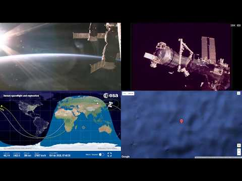 Sunset Over Asia - ISS Space Station Earth View LIVE NASA/ESA Cameras And Map - 64