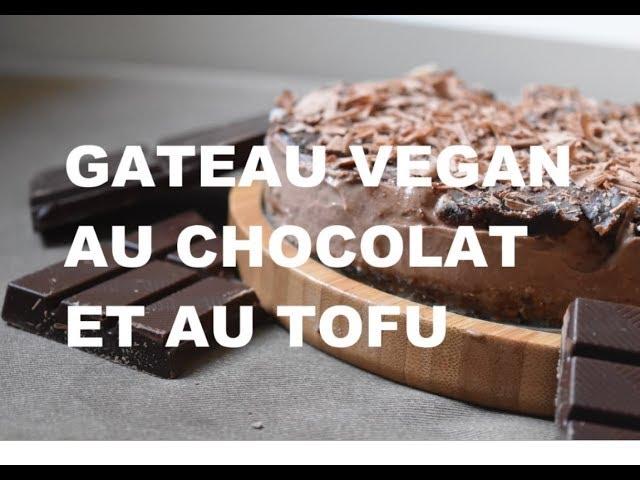 Gâteau cru au chocolat et au tofu soyeux vegan