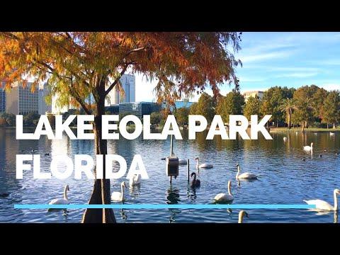 Tour Of Lake Eola Park In Downtown Orlando Florida