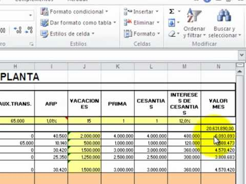 Estructura salarial y liquidaci n de n mina youtube for Liquidacion de nomina excel 2016