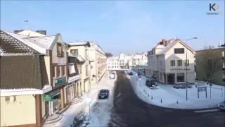 Zimowy Kamień Pomorski okiem drona kamienskie.info