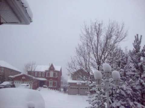 December Snow in Barrie, Ontario