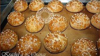 Repeat youtube video Grisat-Krachel-Qrachel الكريصات أو القراشل-Moroccan Sweet Rolls/Brioches Marocaines-Sousoukitchen