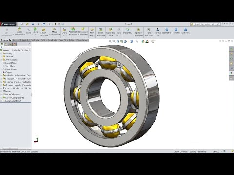 SolidWorks Tutorial | Design And Assembly Of Ball Bearing In SolidWorks | SolidWorks