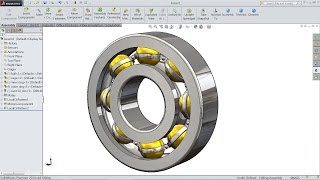 SolidWorks tutorial  Design And Assembly of Ball Bearing in SolidWorks  SolidWorks