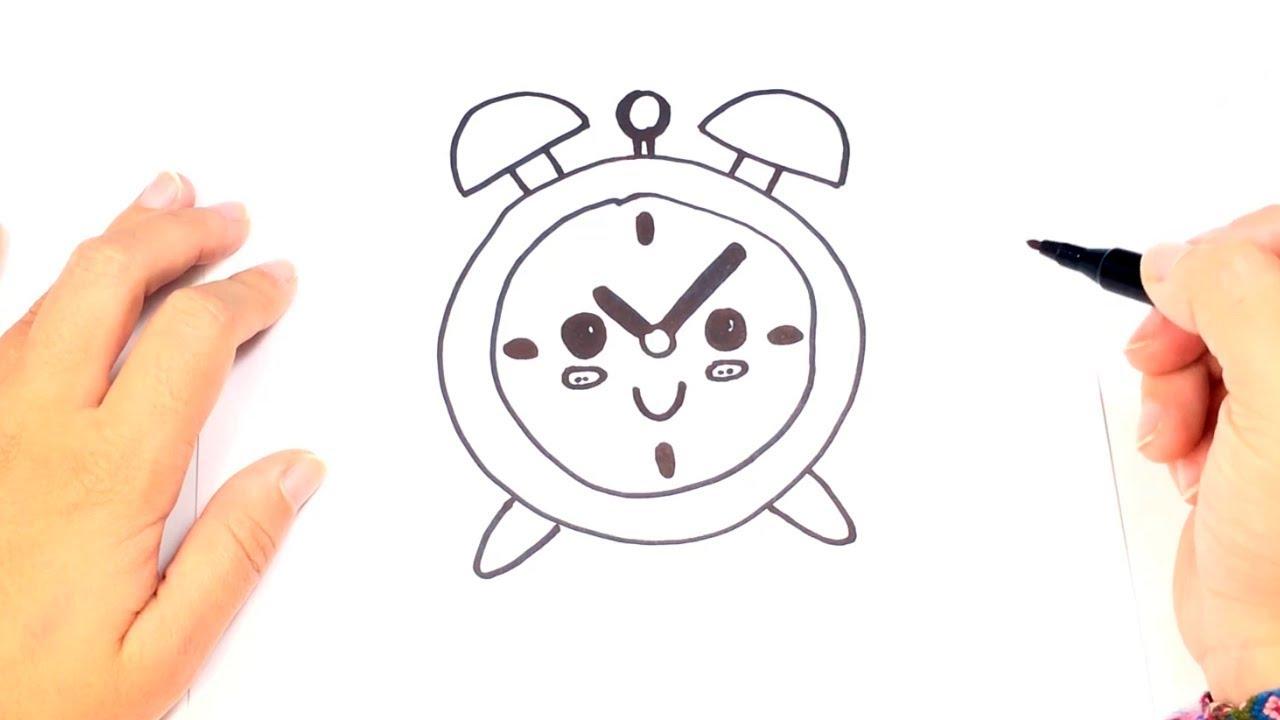 Como Dibujar Un Reloj De Mesa O Despertador Youtube