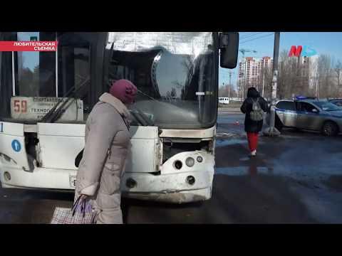 Опубликовано видео ДТП с 59-м автобусом и Daewoo Nexia в Волгограде