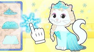 BABY PETS Kira Dresses up as Ice Princess 💥 Educational Cartoons for Kids
