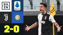 Paulo Dybala erweckt Geisterspiel zum Leben: Juventus - Inter 2:0 | Serie A | DAZN Highlights