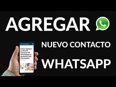 ¿Cómo Agregar un Nuevo Contacto de WhatsApp en Android e iOS? Fácilmente