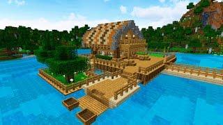 СТАРТОВЫЙ ДОМ НА ВОДЕ В МАЙНКРАФТ КАК ПОСТРОИТЬ (Starter water house minecraft)(Предлагаю вам урок-Стартовый дом в Майнкрафт. Это очень красивый дом на воде, где есть всё. Сам стартовый..., 2016-06-26T08:29:05.000Z)