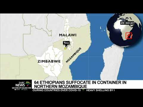 64 Ethiopians found dead in a container north of Mozambique