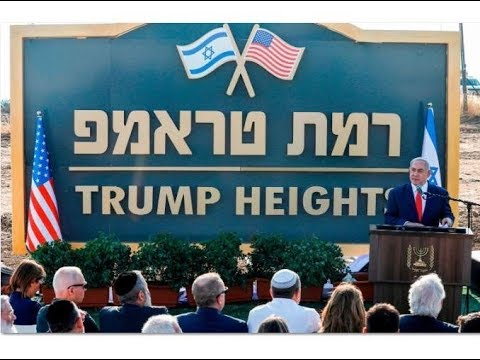 Israel Will Name A Golan Heights City After Trump