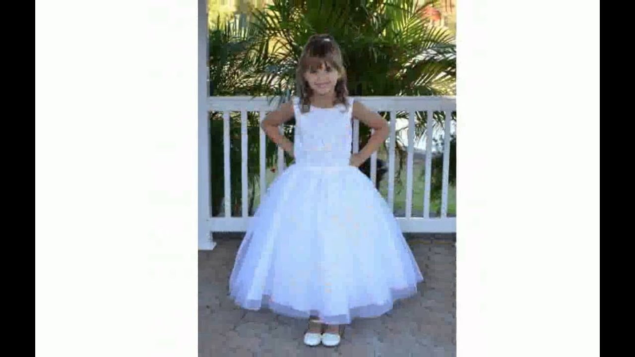 First Communion Dresses Plus Size - YouTube