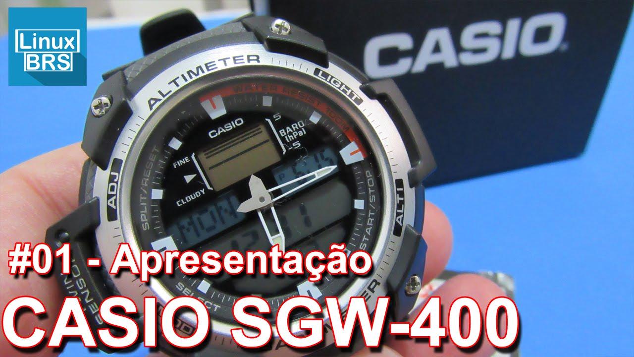 6501b75b0b3 Casio SGW-400 - Apresentação - Altímetro