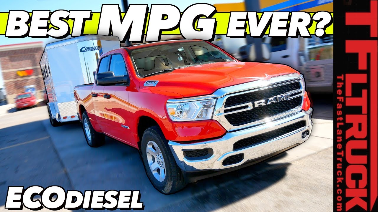 2020 Ram 1500 Ecodiesel You Won T Believe The Mpg We Got Towing Empty