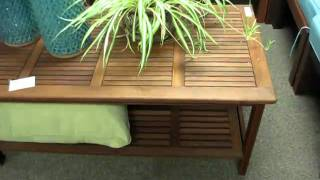 Outdoor Wood Patio Coffee Table