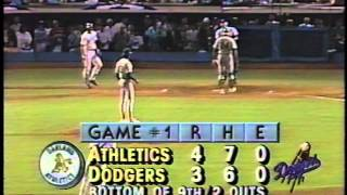 Kirk Gibson's 1988 World Series historic home run-great quality