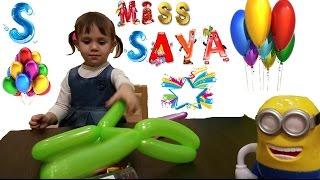Видео для Детей. Делаем животных из воздушных шариков Making animals from balloons