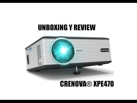UNBOXING y REVIEW proyector CRENOVA® XPE470 ( 1200 lúmenes) EN CASTELLANO