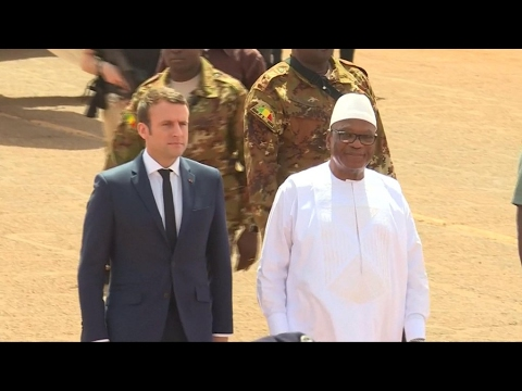 In Mali, France's Macron says committed to fighting terrorism
