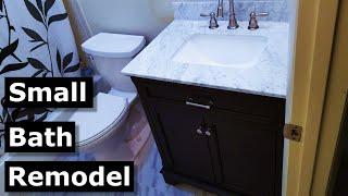 Small Bathroom Remodel DIY   New Tile, Vanity, Toilet, DITRA