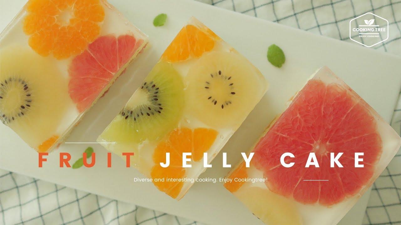 Jelly Cake Recipe Uk: ~알록달록~ 과일 젤리 케이크 만들기 : Fruit Jelly Cake Recipe