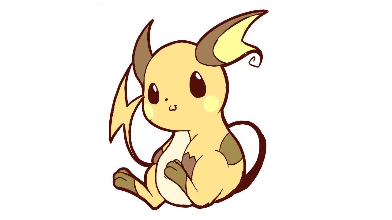 Como Dibujar Pokemon Raichu Kawaii Youtube