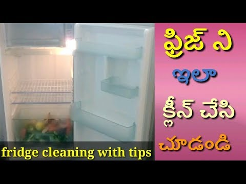 Fridge Cleaning| Refrigerator Cleaning in Telugu