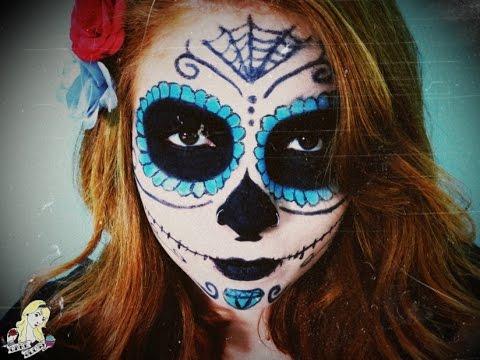 Maquiagem de caveira mexicana para o halloween dia de - Pinturas para halloween ...