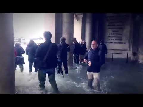 Acqua alta a Venezia (29 ottobre 2018)