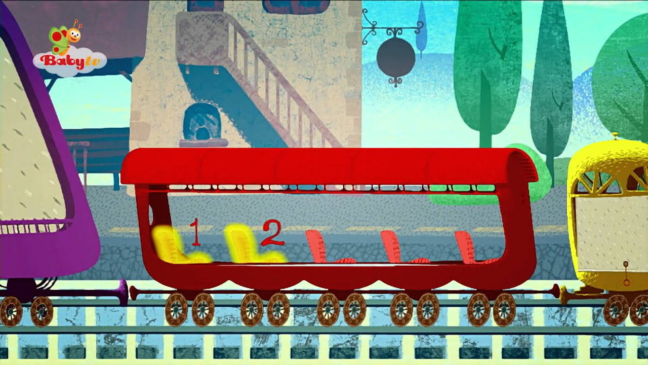 Babytv Tricky Tracks Train Counting Squirrels Youtube