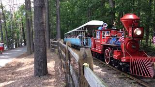 The Essex County Turtle Back Zoo's Blue Train at the Loop