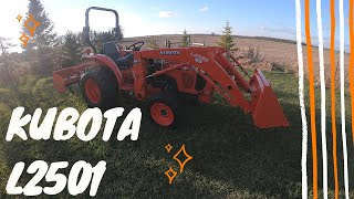 It's finally here! We've waited a long time for our Kubota tractor!
