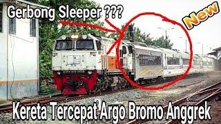 ARGO BROMO ANGGREK MEMBAWA GERBONG SLEEPER NGEBUT DI STASIUN CEPU DAN  KA JAYABAYA, KA MAHARANI