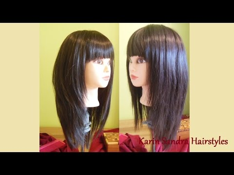 Long Layered Bob Haircut With Bangs